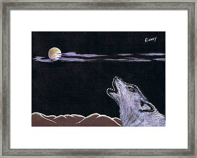 Howling At The Moon Framed Print by Jay Kinney