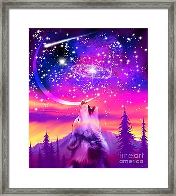 Howling At The Universe Framed Print