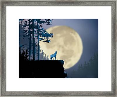 Howling Coyote Framed Print