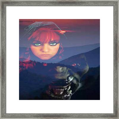 Howling Night Framed Print by Raven Moon
