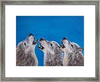 Howling Trio Framed Print by Aleta Parks