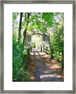 Hoyt Park Footbridge Vertical Framed Print