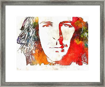 Hozier Watercolor Framed Print by Dan Sproul
