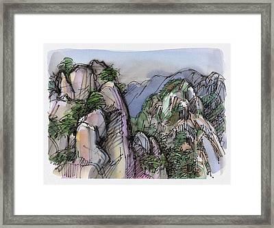 Huangshan, China Framed Print