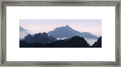 Huangshan Mountain Scene Framed Print by PuiYuen Ng