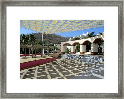 Huatulco Amphitheater 1 Framed Print by Randall Weidner