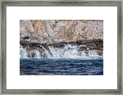Huatulco's Texture Framed Print