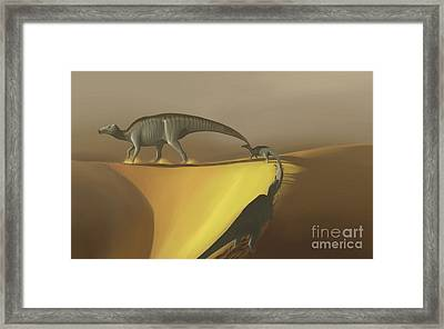 Huaxiaosaurus Aigahtens Dinosaurs Framed Print