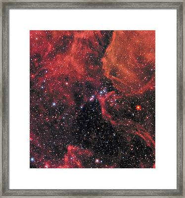 Framed Print featuring the photograph Hubble Captures Wide View Of Supernova 1987a by Nasa