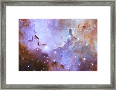 Framed Print featuring the photograph Hubble Space Telescope Celebrates 25 Years Of Unveiling The Universe by Nasa