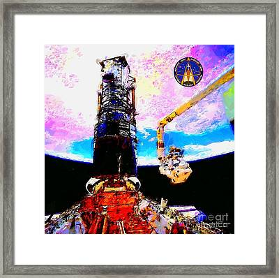 Hubble Space Telescope Servicing Mission  Framed Print