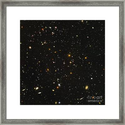 Hubble Ultra Deep Field Galaxies Framed Print by Space Telescope Science Institute  NASA