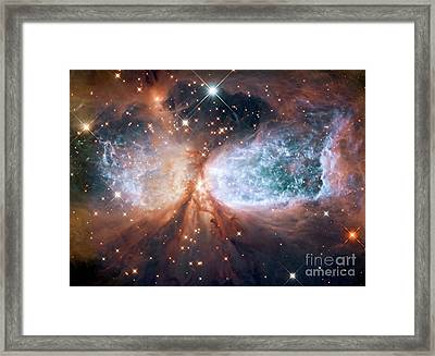 Hubble View Of Star Forming Region S106 Framed Print