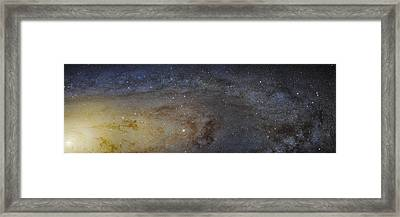 Hubble's High-definition Panoramic View Of The Andromeda Galaxy Framed Print by Adam Romanowicz