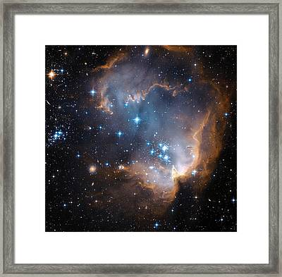 Hubble's View Of N90 Star-forming Region Framed Print