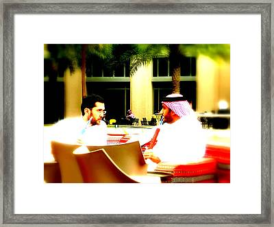 Hubbly Bubbly In Dubai Framed Print by Funkpix Photo Hunter