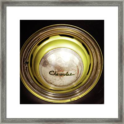 Hubcap Framed Print by Les Cunliffe