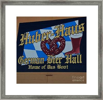 Huber Haus Mural, Omaha Framed Print