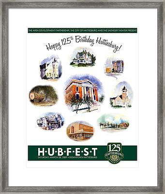 Hubfest Poster Framed Print