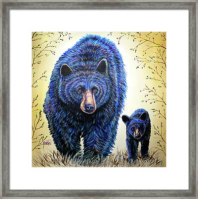 Huckleberry Hunters Framed Print