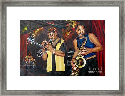 Hud N Lew/ The Daddyo Brothers Framed Print