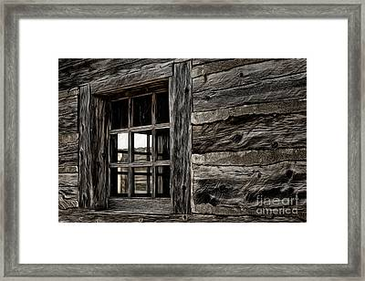 Framed Print featuring the photograph Hudson Bay Fort Window by Brad Allen Fine Art