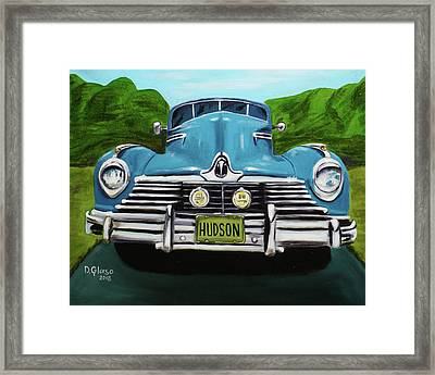 Hudson Blue Framed Print