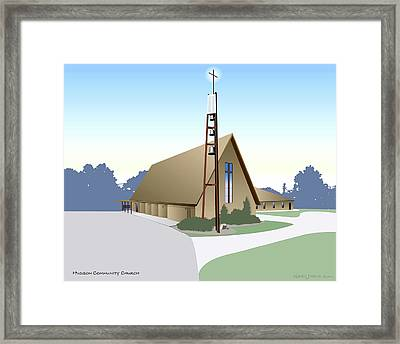 Hudson Community Church Framed Print