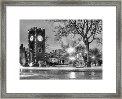 Hudson Holidays In Black And White Framed Print