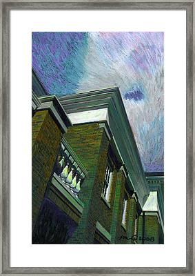 Hudson Library Framed Print