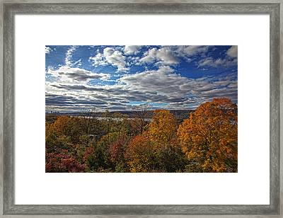 Hudson River And New Jersey Palisades From Wave Hill 2 Framed Print