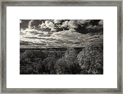 Hudson River And New Jersey Palisades From Wave Hill Framed Print
