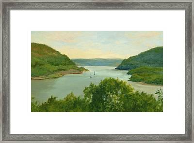 Hudson River From Bear Mt. Framed Print