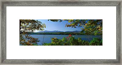 Hudson River In Autumn, Rhinebeck, New Framed Print by Panoramic Images
