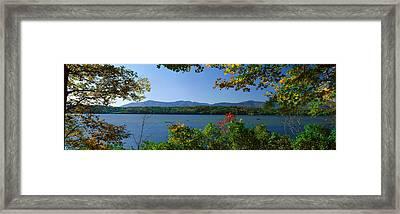 Hudson River In Autumn, Rhinebeck, New Framed Print