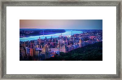 Framed Print featuring the photograph Hudson River Sunset by Theodore Jones