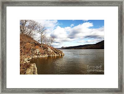 Hudson River View Framed Print by John Rizzuto