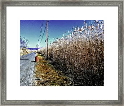 Hudson River Winter Walk Framed Print