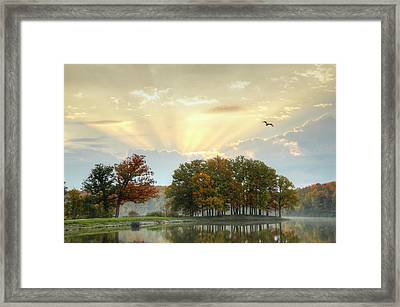 Framed Print featuring the photograph Hudson Springs Morning by Ann Bridges