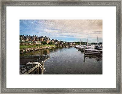 Hudson Valley Dock Framed Print by Frank Mari