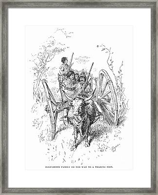 Hudsons Bay Company Traders Framed Print by Granger