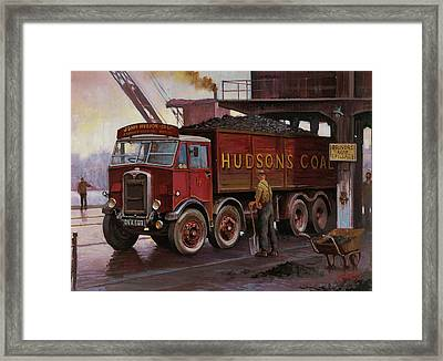 Hudsons Coal. Framed Print by Mike  Jeffries