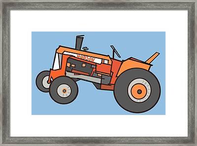Hudson's Tractor Framed Print by Denny Casto
