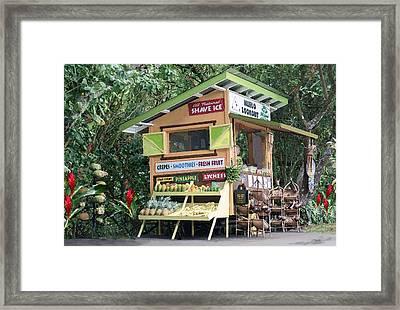 Huelo Farm Stand Framed Print by J Marielle