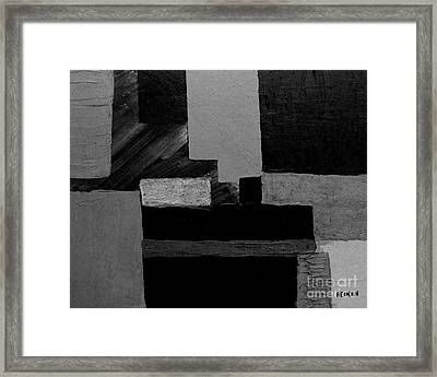 Hues Of Gray Abstract Framed Print