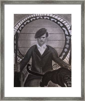 Huey And The Panther Framed Print