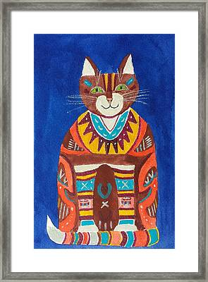Huey Cat Framed Print