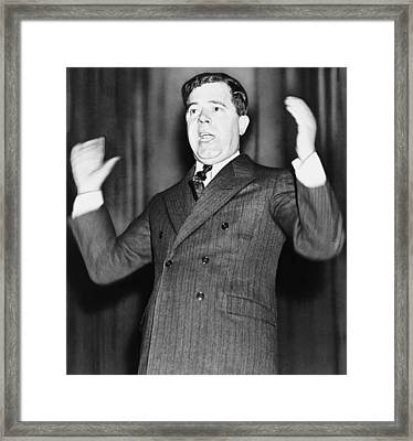 Huey Long - The Kingfish Framed Print by War Is Hell Store