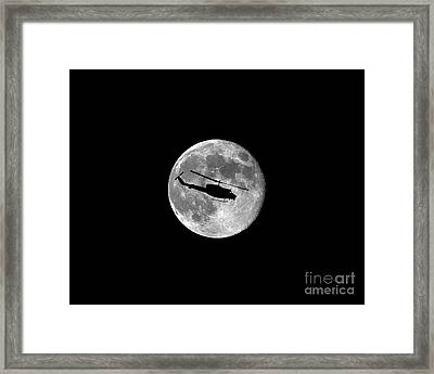 Huey Moon .png Framed Print by Al Powell Photography USA