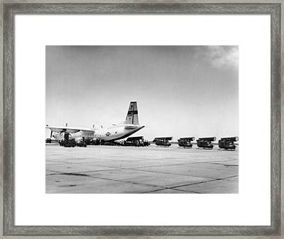 Hueys Back To Vietnam Framed Print by Underwood Archives